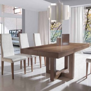 Mesa comedor rectangular extensible 293