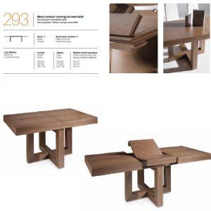 Mesa comedor rectangular extensible 293