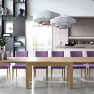 Mesa comedor rectangular extensible Dalia