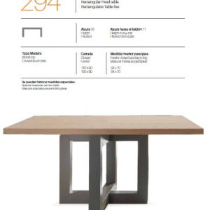 Mesa rectangular 294